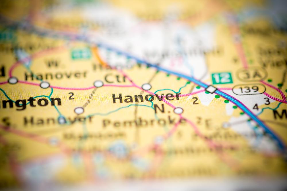 Hanover, MA map