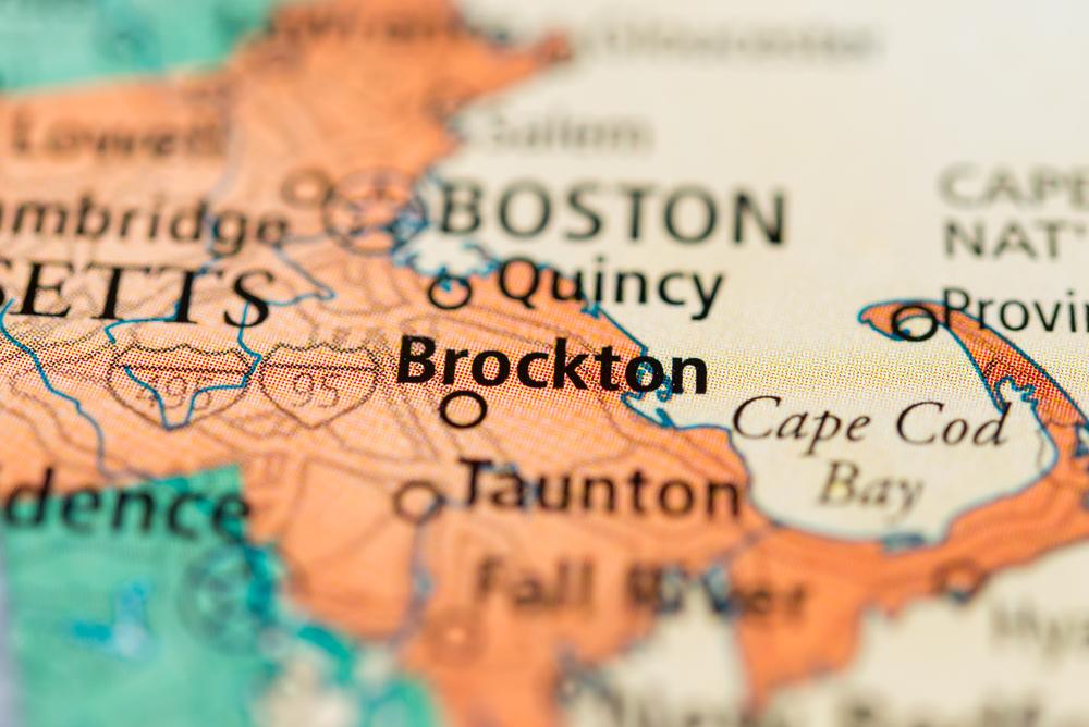 Brockton MA map