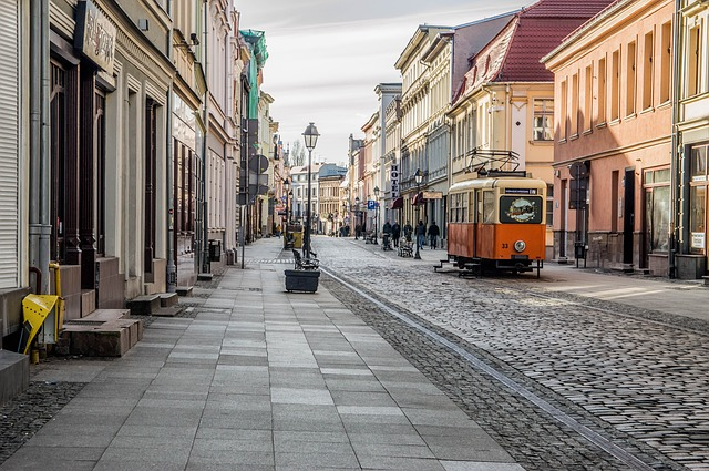 city street in Poland