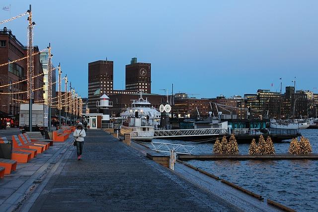 waterside walkway in Oslo