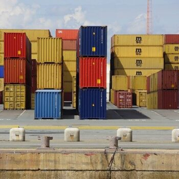 cargo on a dock