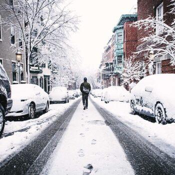 frozen city street