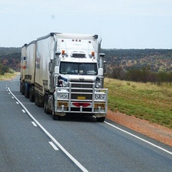 large truck on open road