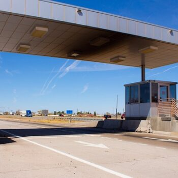 weigh station on highway